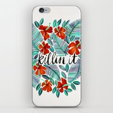 Killin' It – Tropical Red & Green iPhone & iPod Skin