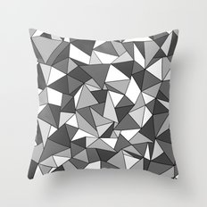 Ab Collide Grey Throw Pillow
