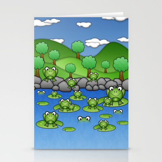 Froggies!  Stationery Card