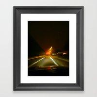 On The Ave. Framed Art Print