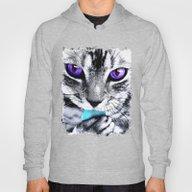 Purple Eyes Cat Hoody