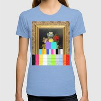 A Painting Of Flowers Wi… Womens Fitted Tee Tri-Blue SMALL