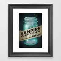VAMPIRE WEEKEND Framed Art Print
