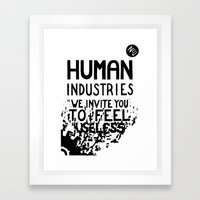 WHITEOUT: Human Industries ( HUM- 019) Framed Art Print
