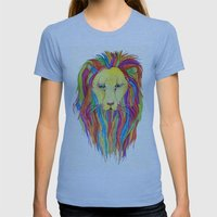 Dandy Lion Womens Fitted Tee Athletic Blue SMALL