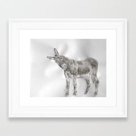 El Burro Framed Art Print