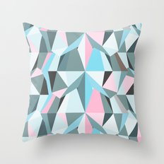 Cotton Candy Waterfall Throw Pillow
