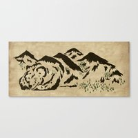 Sleepy Bear Mountain Canvas Print