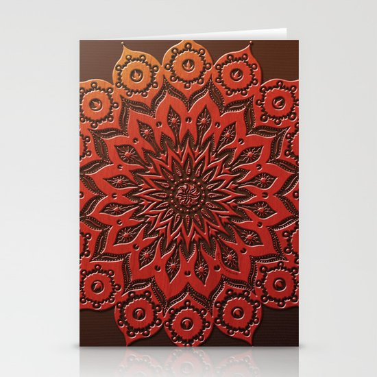 okshirahm woodcut Stationery Card