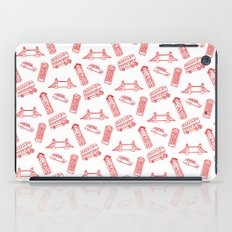 London - Red on White iPad Case