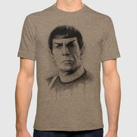 Spock Mens Fitted Tee Tri-Coffee SMALL
