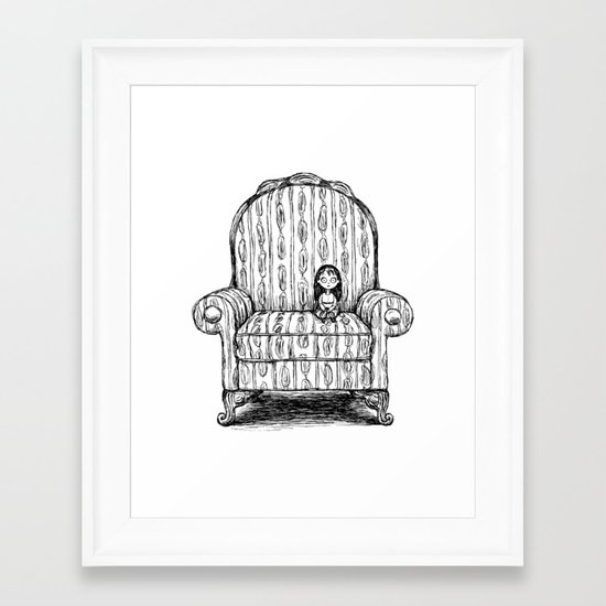 Big Chair Framed Art Print