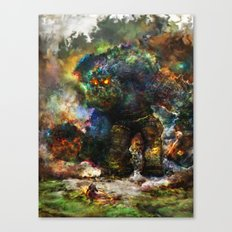 shadow of the witcher Canvas Print