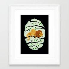 The Elusive Camel Lion Framed Art Print
