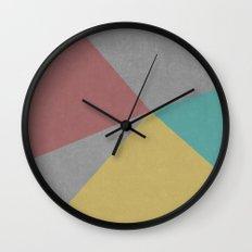 Concrete & Color Wall Clock