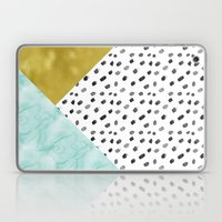 Watercolor and Gold Laptop & iPad Skin