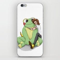 Harry's frog plushie iPhone & iPod Skin