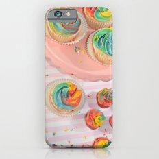 rainbow cupcakes iPhone 6 Slim Case