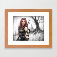 Distance Fading  Framed Art Print