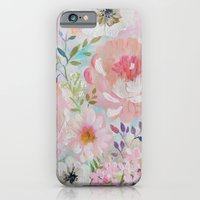 iPhone Cases featuring Acrylic rose garden  by craftberrybush