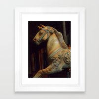 The Dark Horse Mourns Framed Art Print
