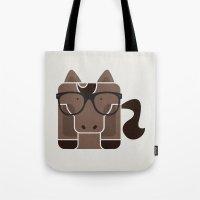 Hipster Horse Art Print Tote Bag