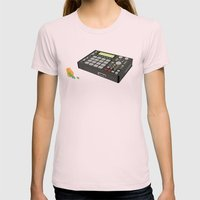 Deep Space 9mm Womens Fitted Tee Light Pink SMALL