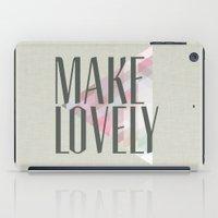 Make Lovely // Stone iPad Case