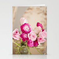 Bunches of Pink Stationery Cards