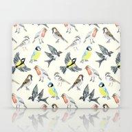Illustrated Birds Laptop & iPad Skin