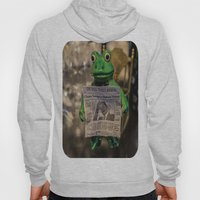 Froggy Reads the Wall Street Journal Hoody