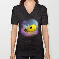 Bee Flying On Colour Sky Unisex V-Neck