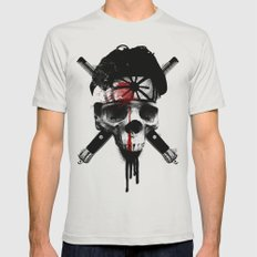 Death to LaRusso Mens Fitted Tee Silver SMALL