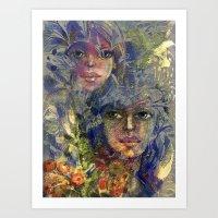 Sisters. Art Print