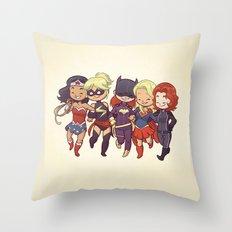 Super BFFs Throw Pillow