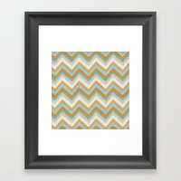 Something Fishy Waves. Framed Art Print