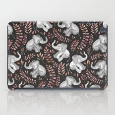 Laughing Baby Elephants - Coral iPad Case