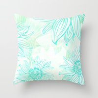 Flowery Throw Pillow