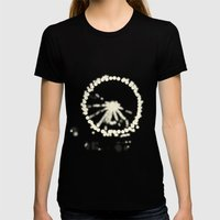 Ferris Wheel  Womens Fitted Tee Black SMALL