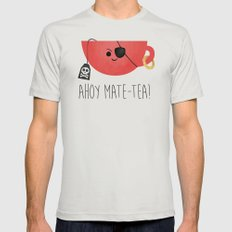Ahoy Mate-tea! Mens Fitted Tee Silver SMALL