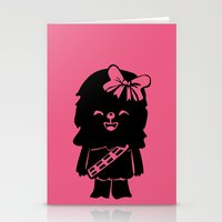 Baby Girl Wookie in Pink Graphic Stationery Cards