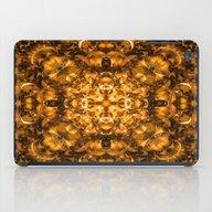 Golden Kaleidoscope iPad Case