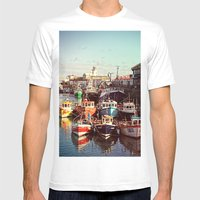 Boats Resting In The Har… Mens Fitted Tee White SMALL