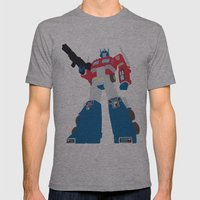 Transformers G1 - Optimus Prime Mens Fitted Tee Athletic Grey SMALL