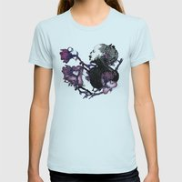 BLOOM Womens Fitted Tee Light Blue SMALL
