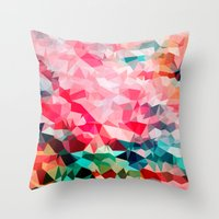 Polygon Pattern II Throw Pillow