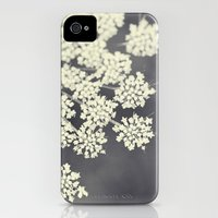 iPhone 4 Case featuring Black and White Queen Annes Lace by Erin Johnson