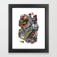 Pizza Machine Framed Art Print
