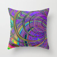 Re-Created  Hurricane 1 by Robert S. Lee Throw Pillow