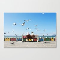 Lunch and the Beach Canvas Print